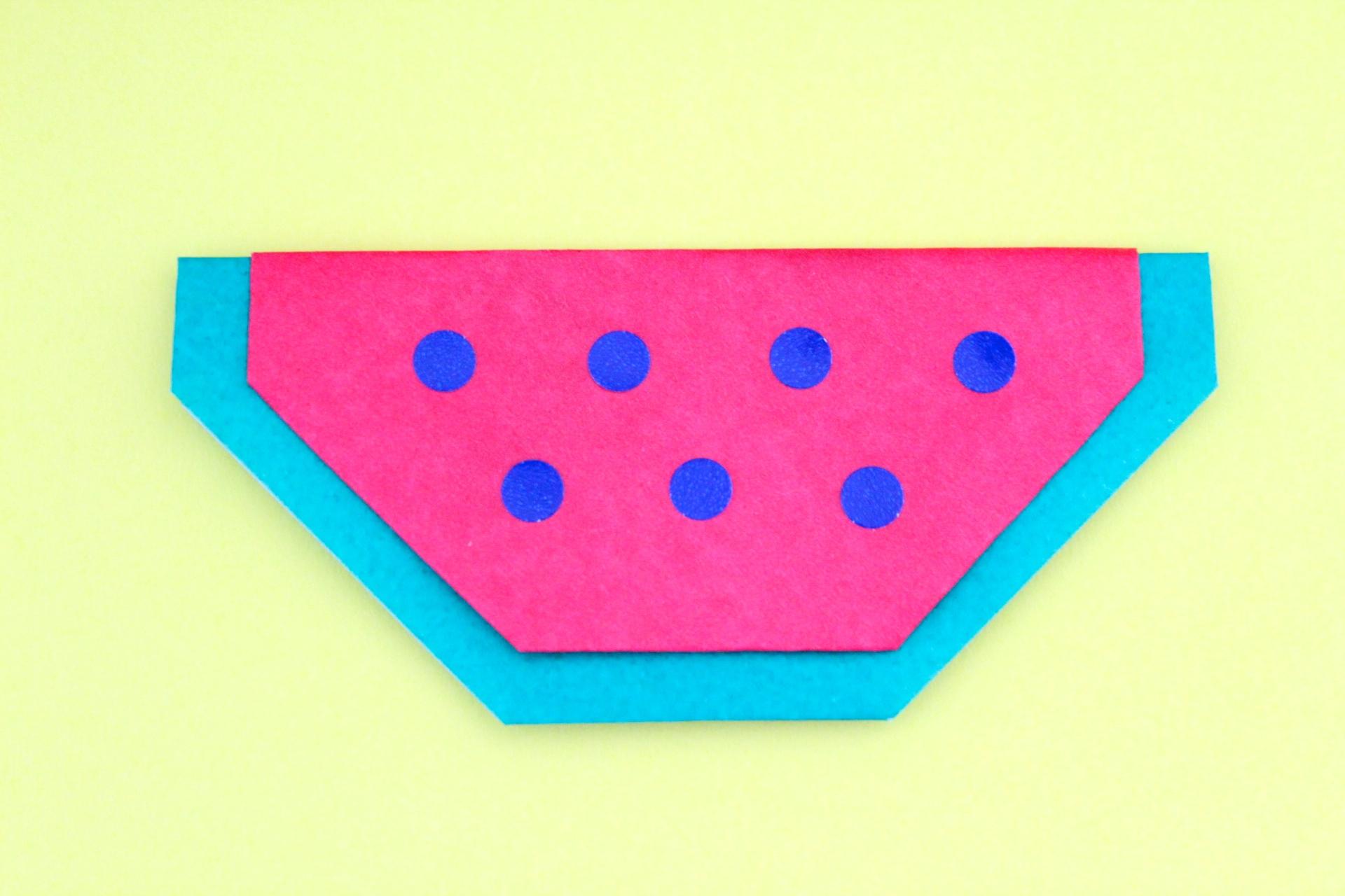 折り紙でスイカの折り方