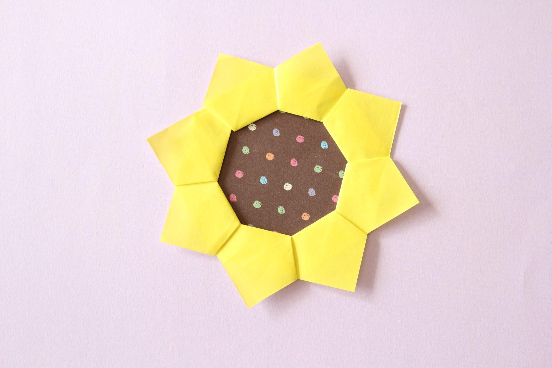 折り紙でひまわりの折り方
