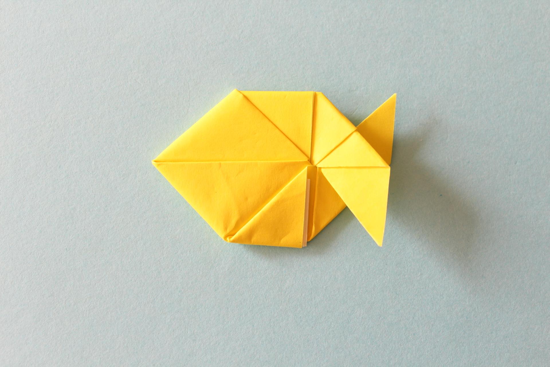折り紙でフィッシュの折り方