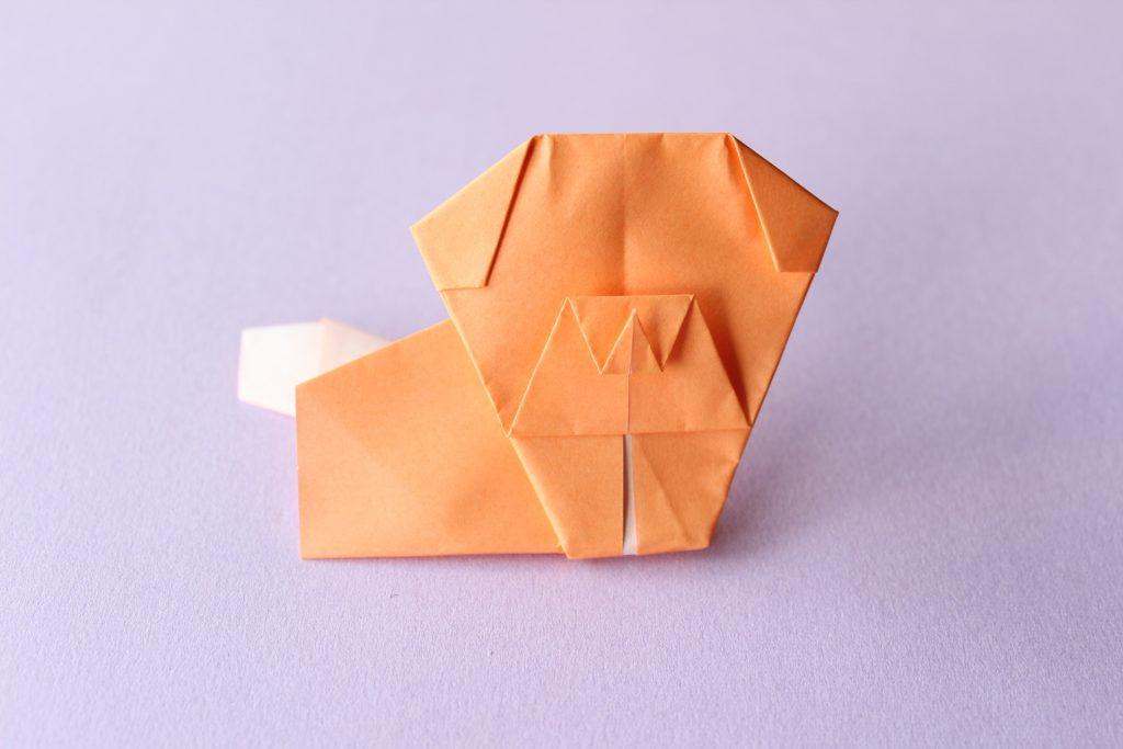 折り紙で犬の折り方