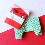 折り紙で獅子舞【ししまい】顔と体の折り方
