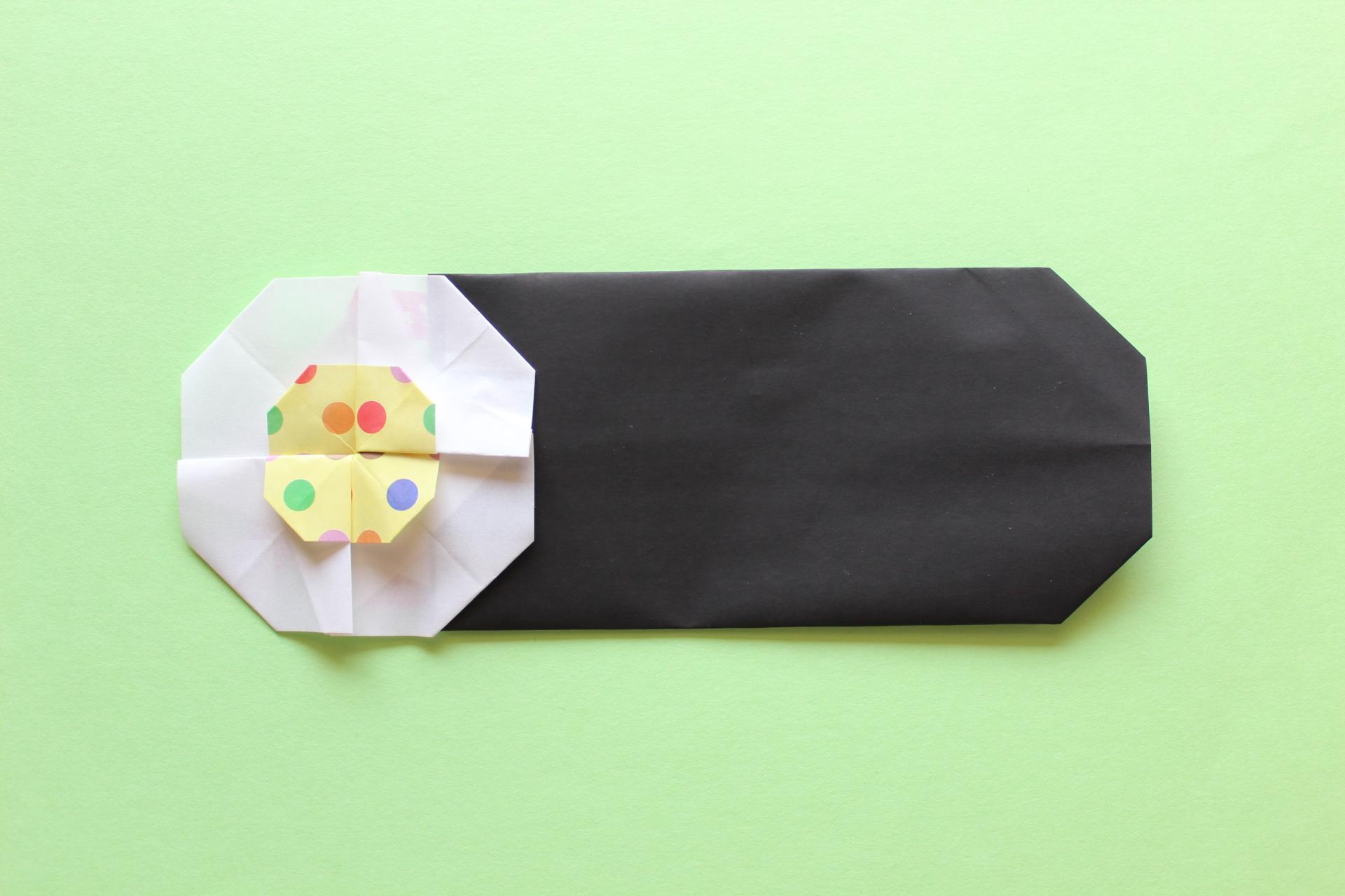 折り紙で恵方巻きの折り方
