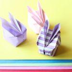 【イースターの折り紙】エッグみたいな立体イースターバニーの折り方