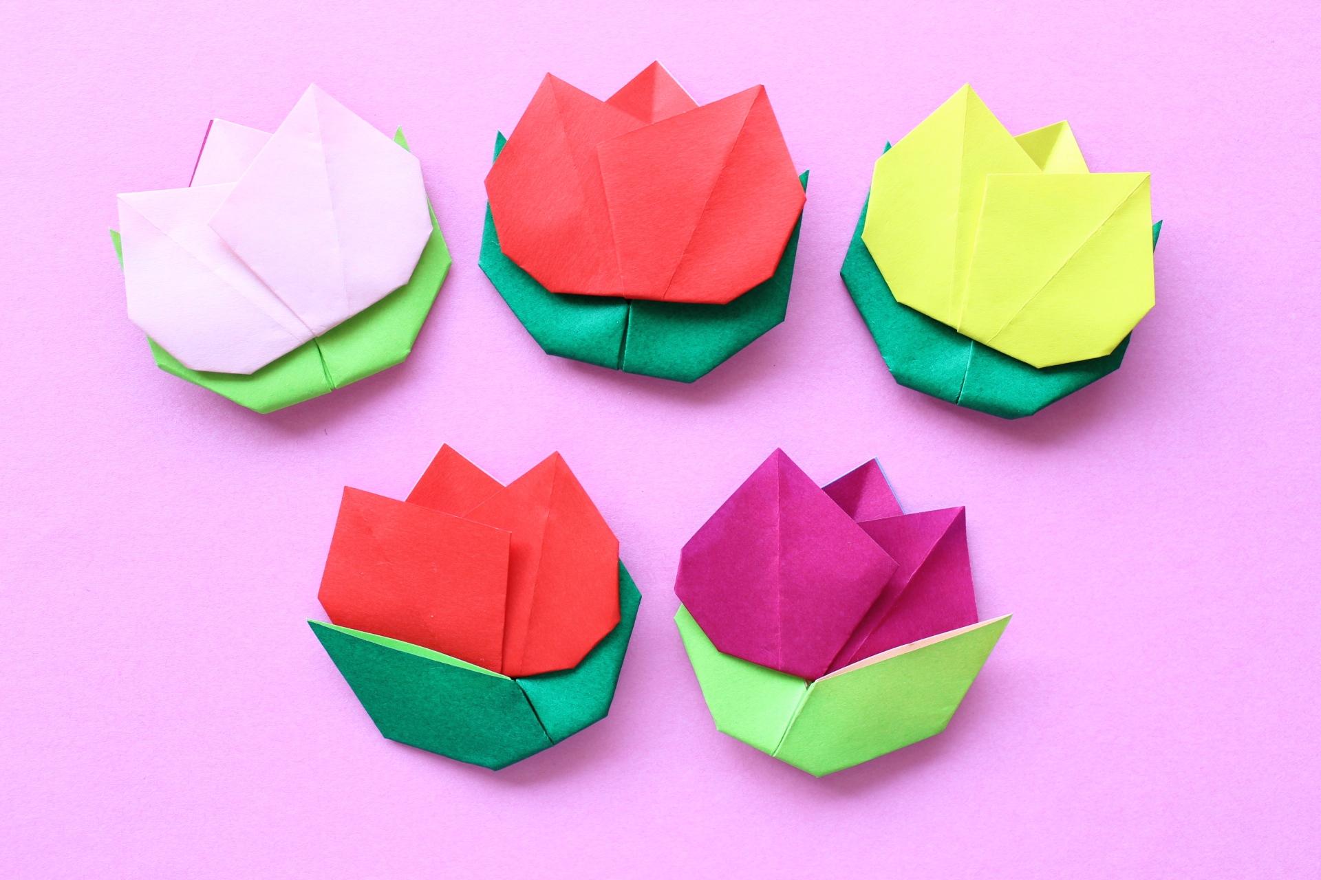 チューリップの折り紙
