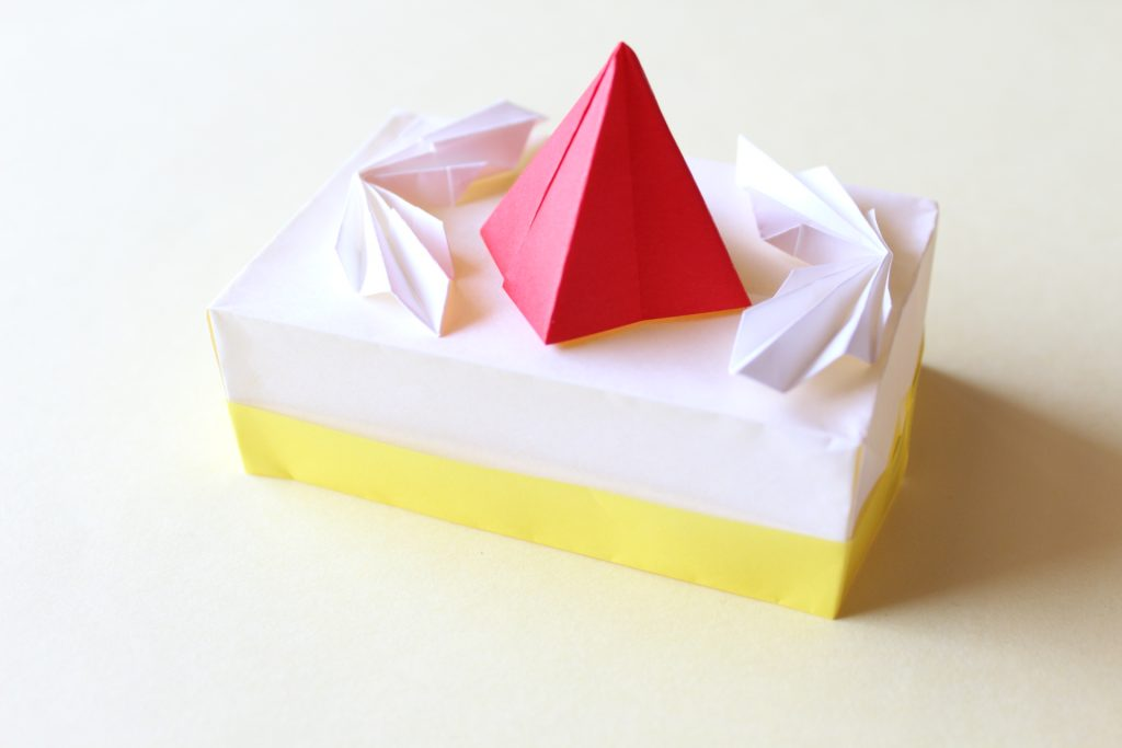 ケーキの折り方