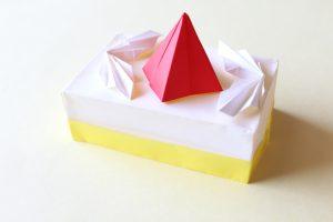 折り紙でケーキの折り方