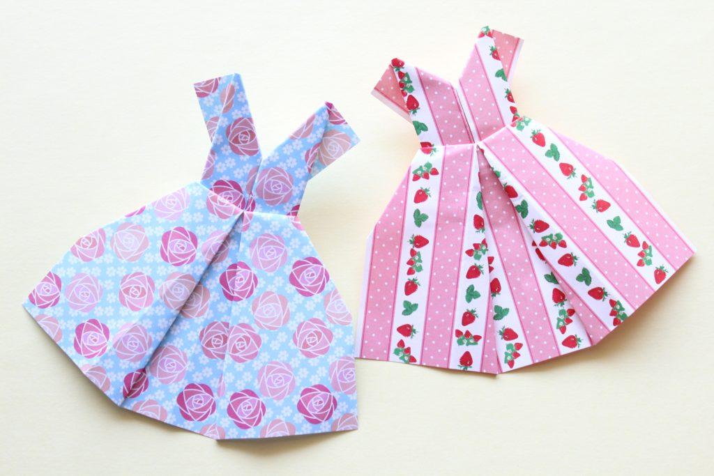 折り紙でドレスの折り方
