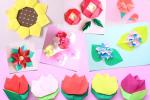 【花の折り紙】子供でも簡単に作れる季節のフラワーの折り方18選まとめ